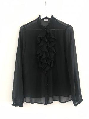 Esprit Chiffon-Bluse schwarz Gr. 36