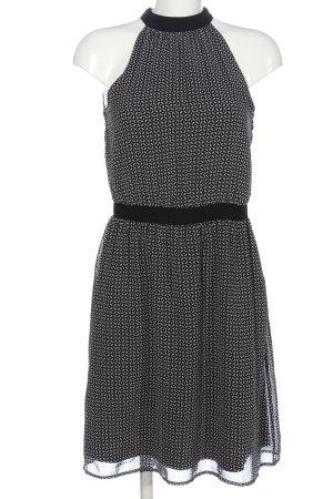 Esprit Chiffonkleid schwarz-weiß Allover-Druck Casual-Look