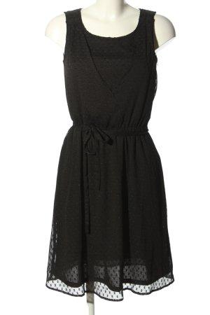 Esprit Chiffonkleid schwarz Elegant