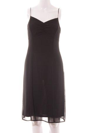 Esprit Chiffon jurk zwart Metalen elementen
