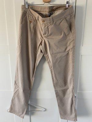 Esprit Pantalon chinos beige coton