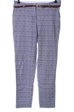 Esprit Chinohose blau-weiß Allover-Druck Casual-Look