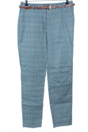 Esprit Chinohose türkis abstraktes Muster Business-Look