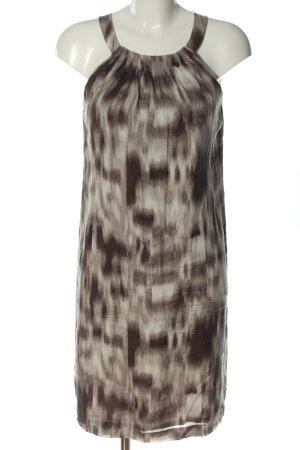 Esprit Cocktailkleid wollweiß-braun abstraktes Muster Casual-Look
