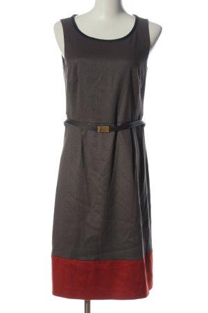Esprit Vestido de cóctel gris claro-rojo elegante
