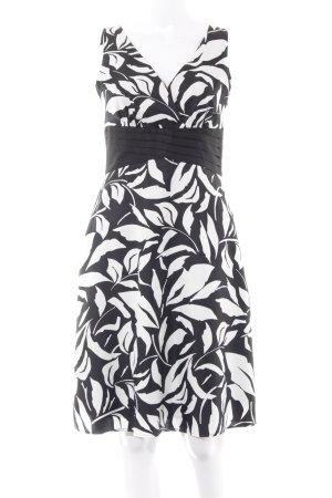 Esprit Cocktailkleid schwarz-weiß Allover-Druck Elegant