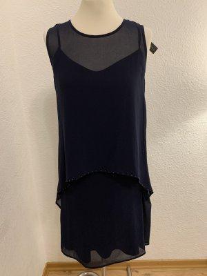 esprit collection Chiffon jurk donkerblauw