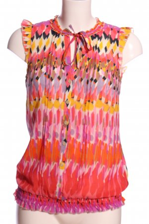 esprit collection ärmellose Bluse abstraktes Muster Casual-Look