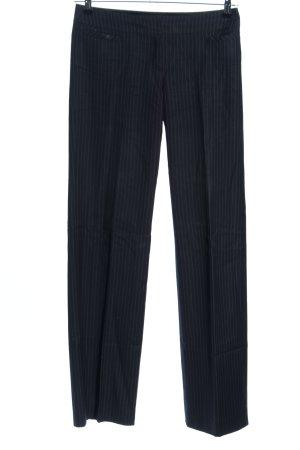 esprit collection Anzughose schwarz-weiß Streifenmuster Business-Look