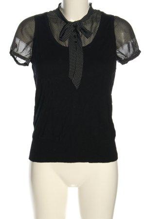 esprit collection Blusenshirt schwarz-weiß Punktemuster Casual-Look