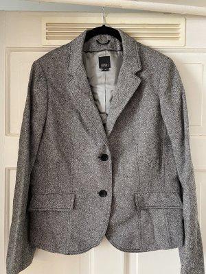 esprit collection Blazer in lana bianco-nero