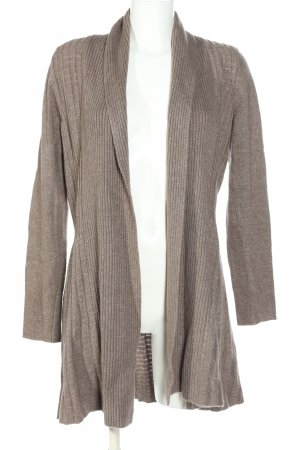 esprit collection Cardigan hellgrau Streifenmuster Casual-Look