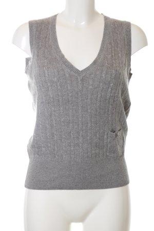 esprit collection Cardigan en maille fine gris clair torsades style d'affaires