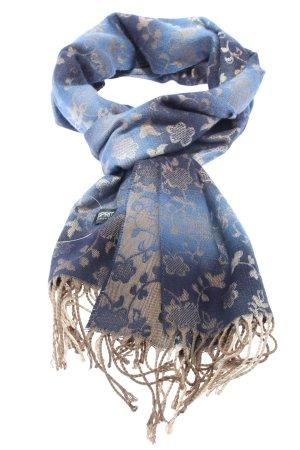 esprit collection Écharpe à franges bleu-blanc cassé imprimé allover
