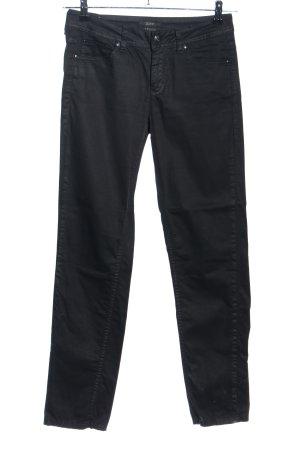 esprit collection pantalón de cintura baja negro look casual