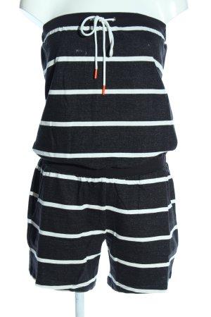 esprit collection Jumpsuit schwarz-weiß Streifenmuster Casual-Look