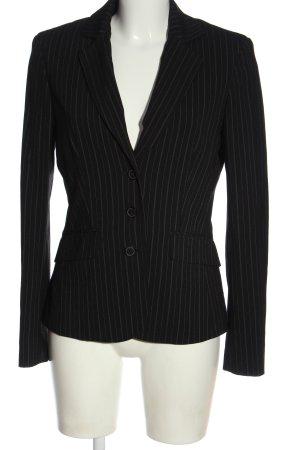 esprit collection Klassischer Blazer schwarz-weiß Streifenmuster Business-Look