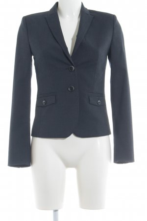 esprit collection Kurz-Blazer dunkelblau meliert Business-Look