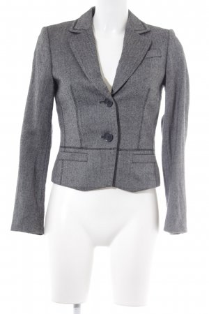 esprit collection Kurz-Blazer grau-schwarz Fischgrätmuster Business-Look