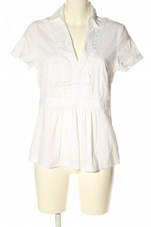 esprit collection Kurzarm-Bluse weiß Casual-Look