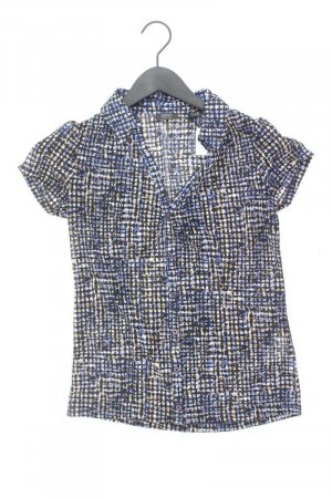 Esprit Collection Kurzarmbluse Größe XS blau aus Polyester