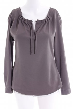 esprit collection Langarm-Bluse dunkelgrau Business-Look