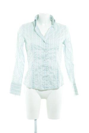 esprit collection Langarmhemd babyblau-weiß Streifenmuster Casual-Look