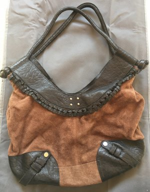 Esprit Collection, Ledertasche, neu, braun- schwarz