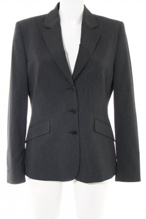 esprit collection Long-Blazer schwarz Streifenmuster Business-Look