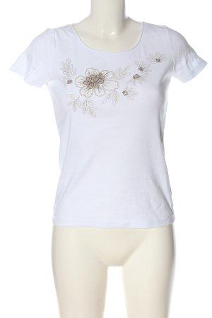 esprit collection Print-Shirt weiß-creme Blumenmuster Elegant