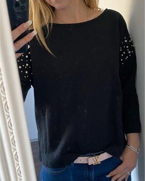Esprit Collection Pullover Sweater schwarz mit Perlen