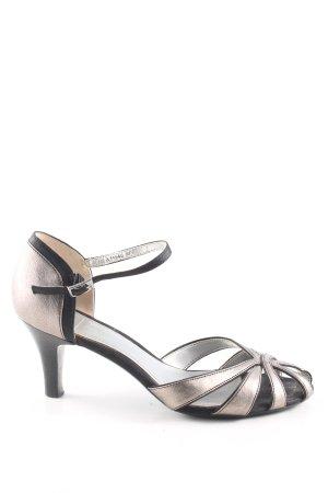 esprit collection Riemchen-Sandaletten silberfarben-schwarz Elegant