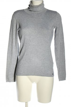 esprit collection Rollkragenpullover hellgrau meliert Casual-Look