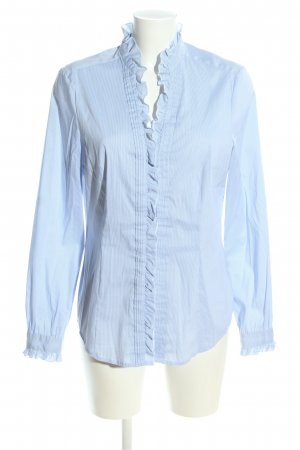 esprit collection Rüschen Bluse blau Streifenmuster Business Look