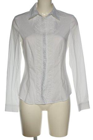 esprit collection Camicetta con arricciature bianco stile professionale