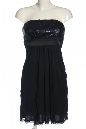 esprit collection schulterfreies Kleid schwarz Glitzer-Optik