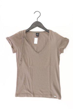Esprit Collection Shirt mit V-Ausschnitt Größe S Kurzarm olivgrün aus Baumwolle