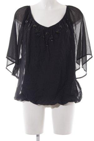 esprit collection Shirttunika schwarz Casual-Look