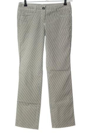 esprit collection Straight-Leg Jeans schwarz-weiß Streifenmuster Casual-Look