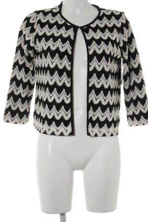 esprit collection Strick Cardigan schwarz-weiß Streifenmuster Business-Look