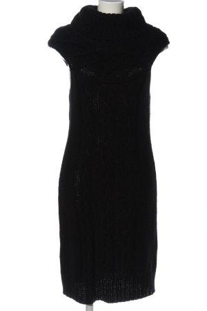 esprit collection Strickkleid schwarz Elegant