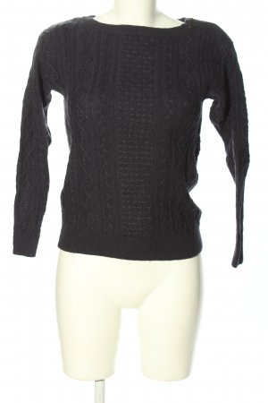 esprit collection Strickpullover hellgrau Zopfmuster Casual-Look