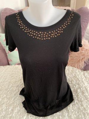 Esprit Collection T-Shirt Gr M schwarz mit Nieten