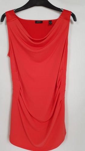 esprit collection Cowl-Neck Top neon orange