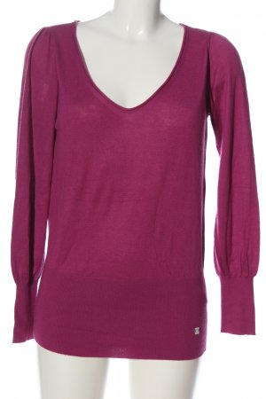 esprit collection V-Ausschnitt-Pullover pink Casual-Look
