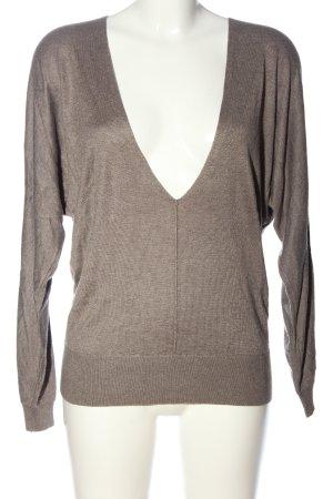 esprit collection V-Ausschnitt-Pullover braun Casual-Look