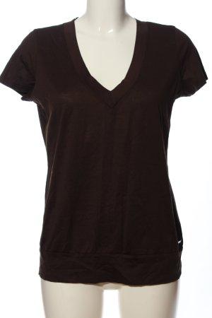 esprit collection V-Ausschnitt-Shirt braun Casual-Look