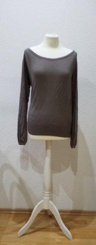Esprit Collection weicher, eleganter, taupefarbener Strickpulli aus Viskose in Größe S.