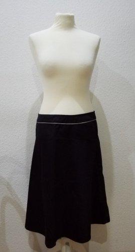 ESPRIT COLLECTION: wunderschöner schwarzer Rock aus Baumwolle, Größe 40