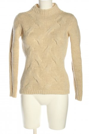 esprit collection Zopfpullover wollweiß Zopfmuster Casual-Look